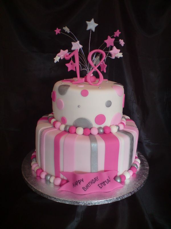 18th cakes for girls