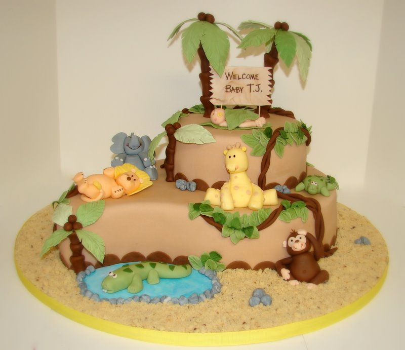 ... Full Size | More jungle baby shower cakes jungle baby shower cakes